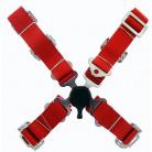 4-bodové bezpečnostní pásy CAM LOCK 50 mm červené