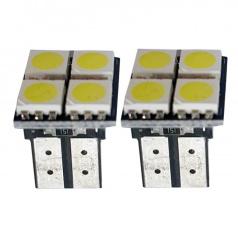 4 SMD LED žiarovky T10W2 biele - 2 ks