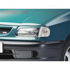 Kryty svetlometov Milotec (mračítka) - ABS čierny, Škoda Felicia