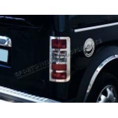 Ford Connect - nerez chróm kryty zadných svetiel Omsa