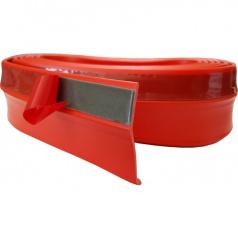 Univerzálny spodný pružný lip s podlepením červený