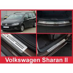 Nerez kryt zostava ochrana prahu zadného nárazníka + ochranné lišty prahu dverí VW Sharan II 2010-16