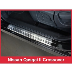 Nerez ochranné lišty prahu dveří 4ks Speciální edice Nissan Qashqai 2 2014-17