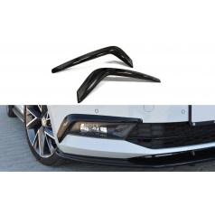 Rámčeky predného nárazníka pre Škoda Superb Mk3, Maxton Design (čierny lesklý plast ABS)