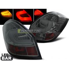 Škoda Fabia 2 2007-06.14 zadné lampy smoke LED bar (LDSK08)