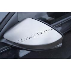 Škoda Octavia III nerez kryty zrkadiel RS6 Matt KI-R