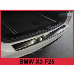 Nerez kryt- čierna ochrana prahu zadného nárazníka BMW X3 F25 2014+
