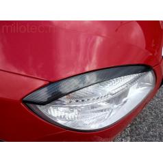 Kryty svetlometov (mračítka), karbón design - Škoda Fabia II Lim., Combi, Scout 2007-2010 - Škoda Roomster, Scout 2006-2010