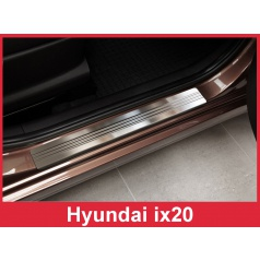 Nerez ochranné lišty prahu dveří 2ks Hyundai i20 2010-16