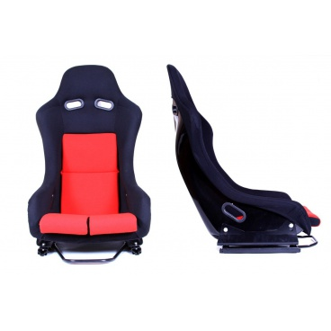 Sportovní pevná skořepina A1 RACING GTR černý/červený  velur
