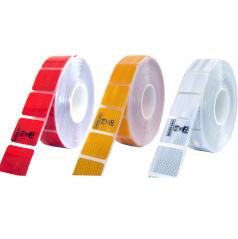 Samolepiaca páska reflexná delená 1m x 5cm žltá, biela, červená