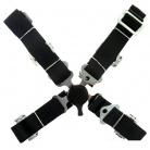 4-bodové bezpečnostní pásy CAM LOCK 50 mm černé