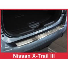 Nerez kryt- ochrana prahu zadního nárazníku Nissan X-Trail III 2014-17