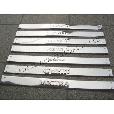 Prahové kovové lišty chróm prevedenie rôzne modely áut II