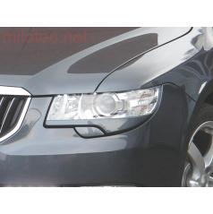 Kryty svetlometov Milotec (mračítka) - ABS, ASA čierny, Škoda Superb II