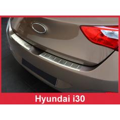 Nerez kryt- ochrana prahu zadního nárazníku Hyundai i30 2012-16