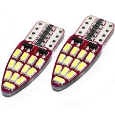 Žiarovky 24 SMD LED T10 (W5W) 12V biela CAN-BUS - 2 ks