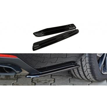 Bočné difúzory pod zadný nárazník pre Škoda Octavia RS Mk3, Maxton Design (čierny lesklý plast ABS)