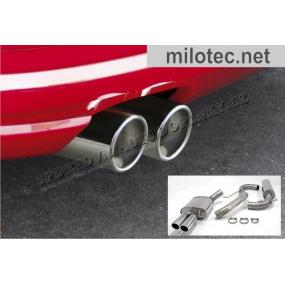 Sportovní výfuk Milotec - potrubí za KAT, ušlechtilá ocel, Škoda Octavia II. + Facelift