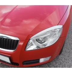Kryty svetlometov (mračítka), strieborné matné - Škoda Fabia II Lim., Combi, Scout 2007-2010, Škoda Roomster, Scout 2006-2010