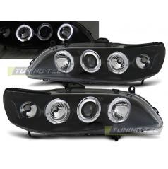 Honda Accord 98-02 (USA) přední čirá světla Angel Eyes black (LPHO22)