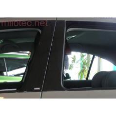 Kryty dverových stĺpikov Milotec - ABS čierna metalíza, Škoda Octavia I sedan