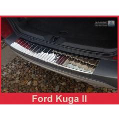 Nerez kryt- chrom ochrana prahu zadního nárazníku Ford Kuga II 2013-16