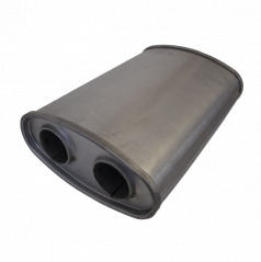 Univerzálny oceľový výfukový tlmič S225 x D330 x v108mm (55 mm vstup)