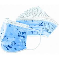 Respirační roušky s 3-vrstvým ochranným filtrem modré s motivy