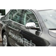 Nerez chróm kryty zrkadiel Škoda Superb II