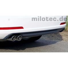 Difúzor zadného nárazníka - ABS, ASA čierny, Škoda Octavia II RS Limousine, Combi