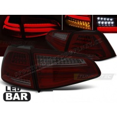 VW Golf 7 2013+ zadné lampy red smoke LED Bar (LDVWG5)