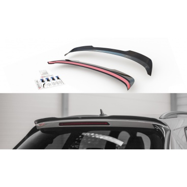Predĺženie spojlera Ver.1 pre Škoda KodiaQ Sportline, Maxton Design (čierny lesklý plast ABS)