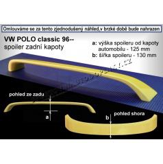 VOLKSWAGEN POLO CLASSIC (96-02) spoiler zad. kapoty (EU homologace)