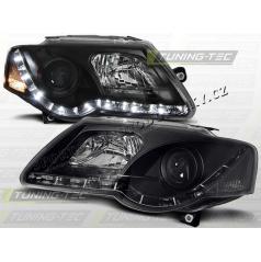 VW PASSAT B6 (3C) 2005-10 PŘEDNÍ ČÍRÁ SVĚTLA DAYLIGHT LED BLACK (LPVWC2)
