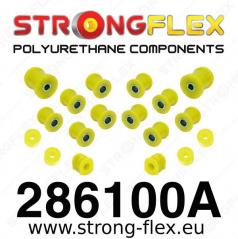 Nissan 100NX StrongFlex Sport sestava silentbloků jen pro zadní nápravu 15 ks