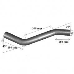 Univerzálne výfukové oceľové potrubie 60 mm
