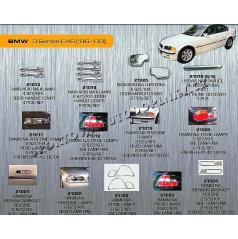 BMW 3 (E46) 98-03 chróm autodoplnky