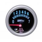 Prídavný budík Race Sport tlak oleja 52 mm čierny