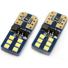 Žiarovka 12 SMD UltraBright LED T10 (W5W) 12V / 24V biela CAN-BUS