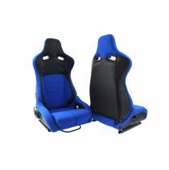 Sportovní polohovatelná sedačka A1 RACING FLURIO modrá