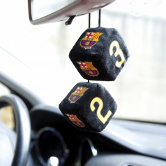Plyšové kocky 7 cm s logem FC Barcelona (originálne s licenciou, nie sú to žiadne kópie)