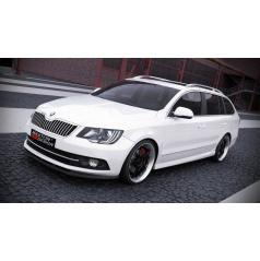 Bočné prahy pre Škoda Superb Mk2, Maxton Design (plast ABS bez povrchovej úpravy)
