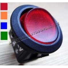 Vypínač 16A 12V RED, BLUE, ORANGE, GREEN s podsvietením, priemer 2 cm