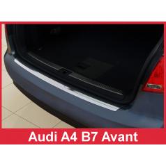 Nerez kryt- ochrana prahu zadného nárazníka Audi A4 B7 Combi 2004-08
