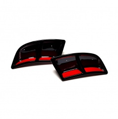 Atrapy výfuka Turbo design RS230 Glossy black - Glowing Red - Škoda Karoq