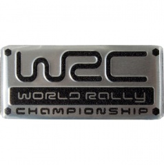 Plastický znak WRC alu prevedenie s podlepením 55X25 mm