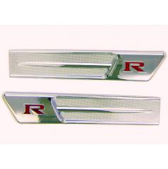 Chrom nádechy styl GTR-SKYLINE 23X5 cm 2 ks