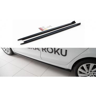Difúzory pod bočné prahy Ver.1 pre Škoda Octavia Mk4, Maxton Design (Carbon-Look)