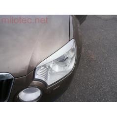Kryty svetlometov Milotec (mračítka) - ABS - strieborné matné, Škoda Yeti 09/2009 +